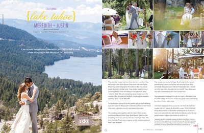 Lake Tahoe summer wedding photographer