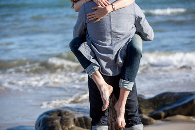 Malibu beach engagement session