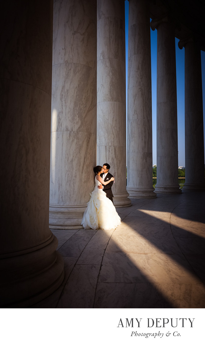 Jefferson Memorial Monumnet DC Wedding Photography
