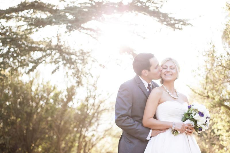 Bride and groom in Malibu, Ca