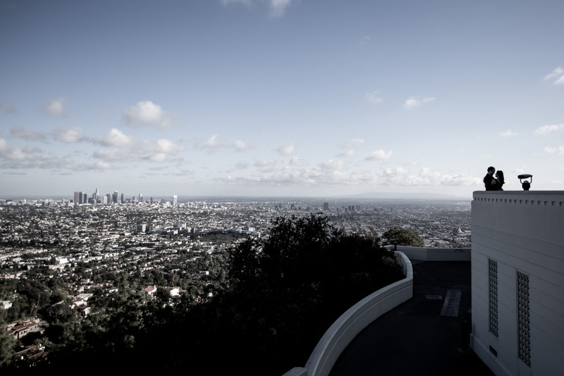 Griffith Observatory Engagement Session Photography