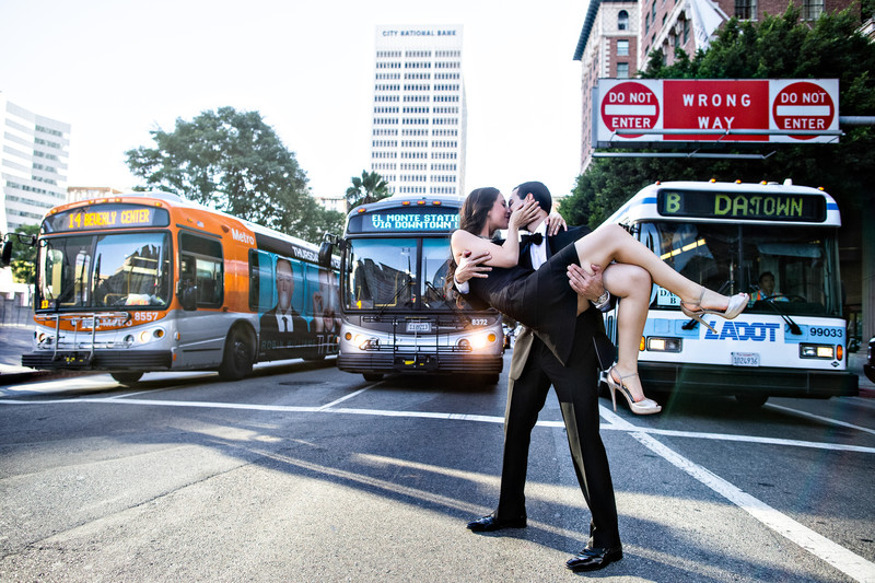 Engagement Photos in Downtown Los Angeles
