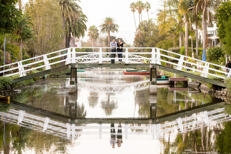 Venice Canals Engagement Session Photography