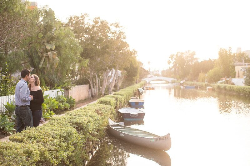 Dreamy Venice Canals Engagement Session Photo