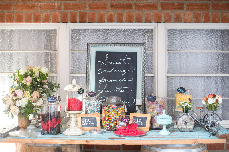 Candy Bar Decor Wedding Photography
