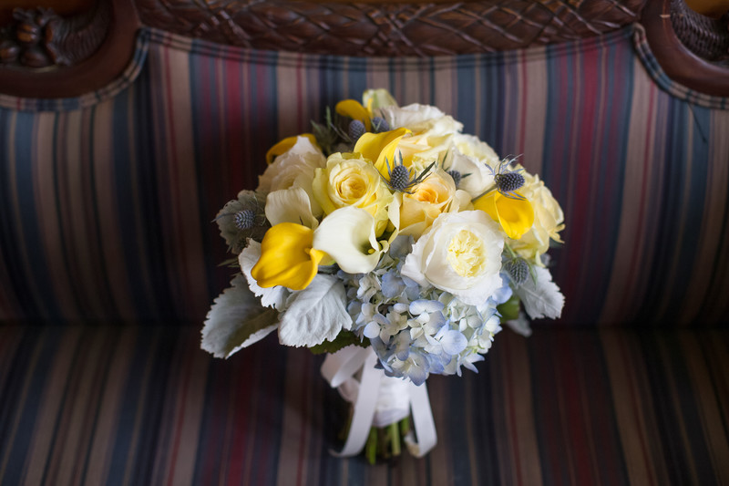 Bridal Bouquet Details and Decor at Castle Green, Pasadena