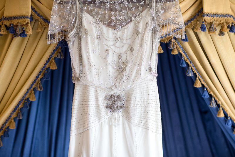 Ornate French Designed Bridal Gown at the Millennium Biltmore Hotel