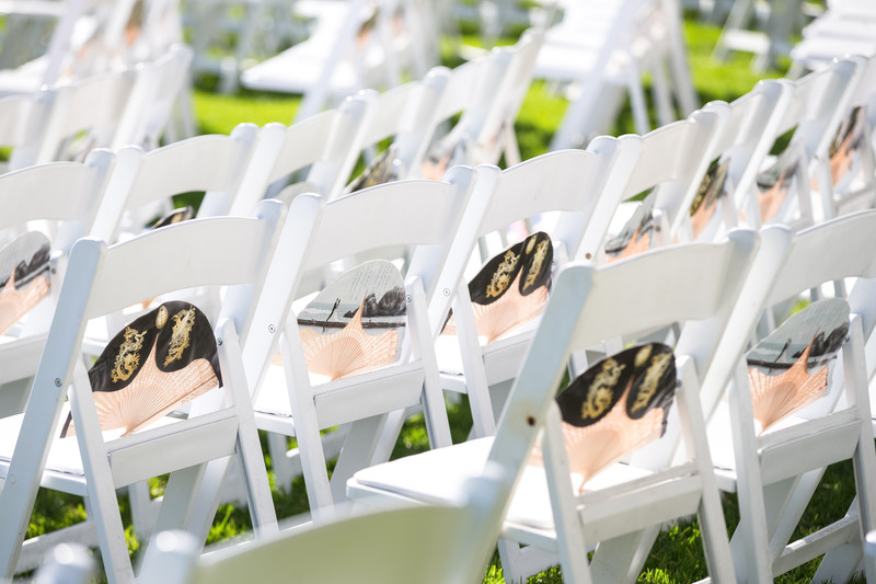 Wedding Ceremony Decor and Details in Pacific Palisades, CA