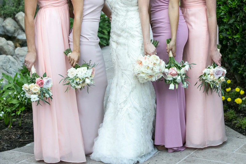 Bridal Party Floral and Gown Details Photography