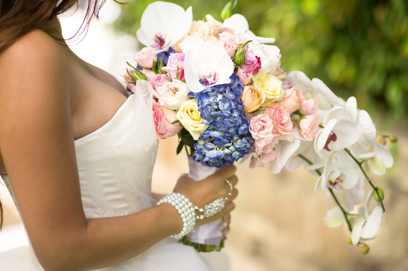 Bridal Bouquet Florals and Jewelry Details Photography