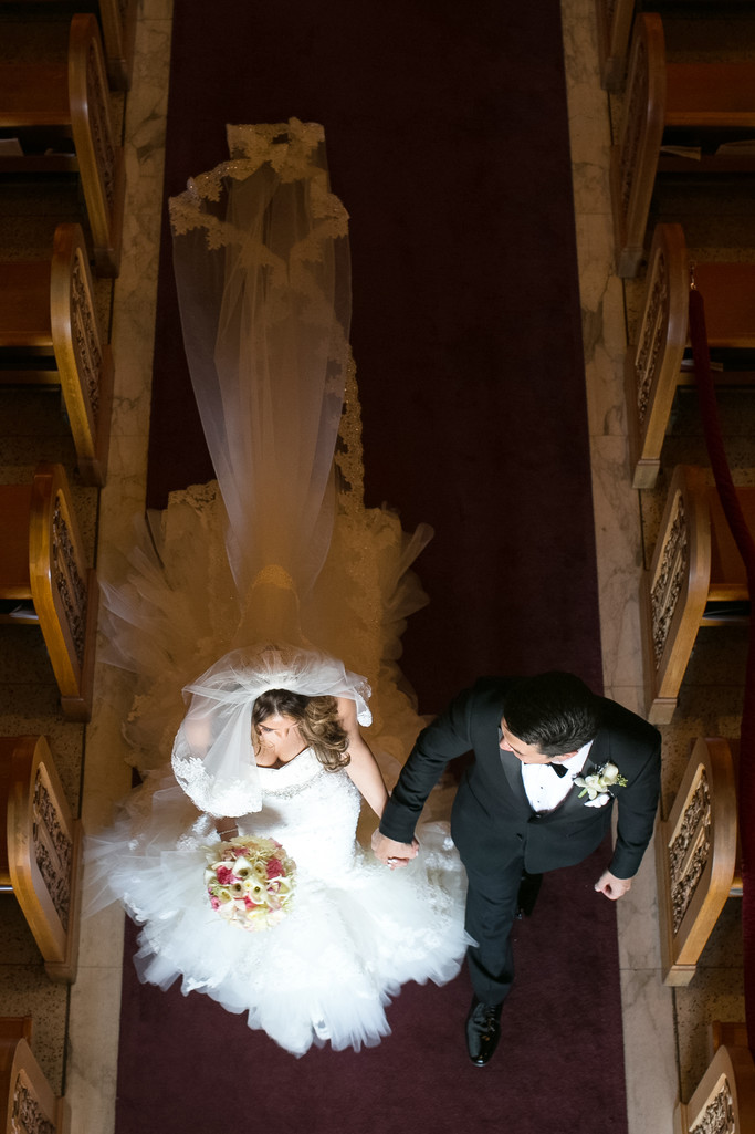 Wedding Ceremony at St. Sophia's Greek Orthodox Cathedral in Los Angeles