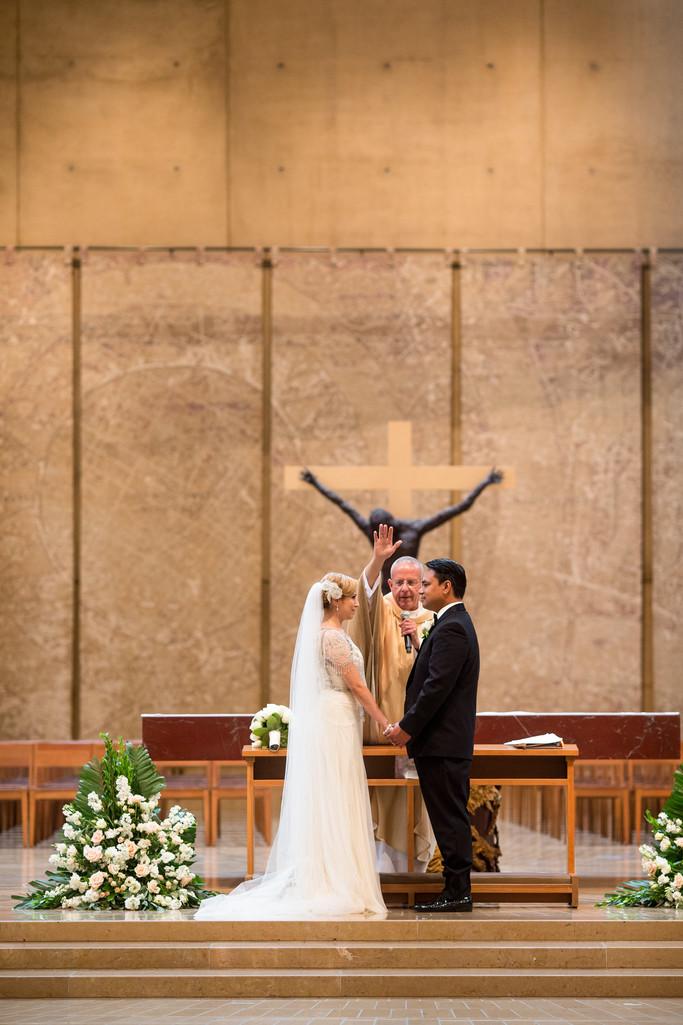 Los Angeles Cathedral Wedding Ceremony
