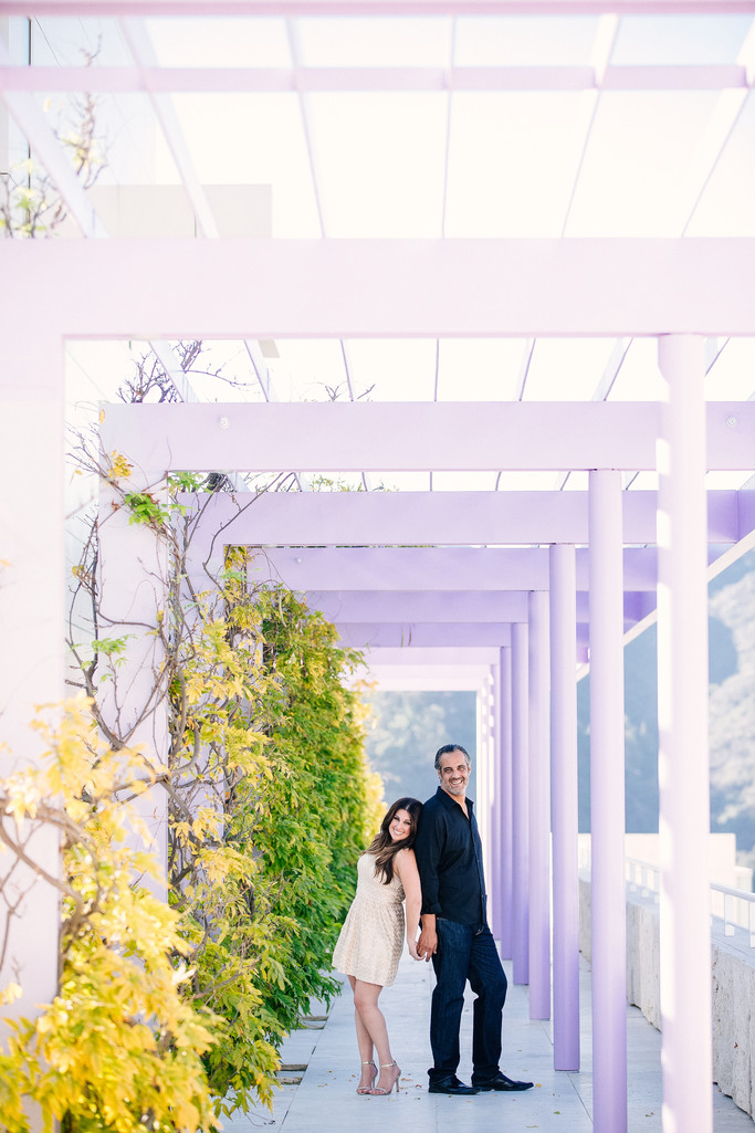 Stylish Getty Center Engagement Session