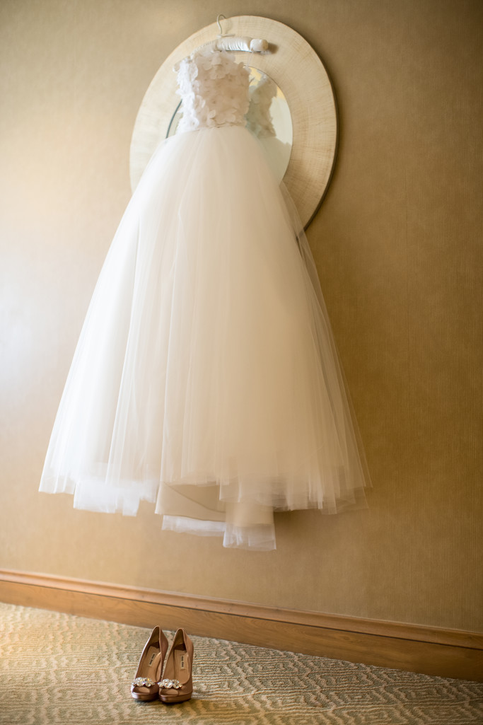 Trendy Wedding Gown Suspended at the Intercontinental Hotel in Century City