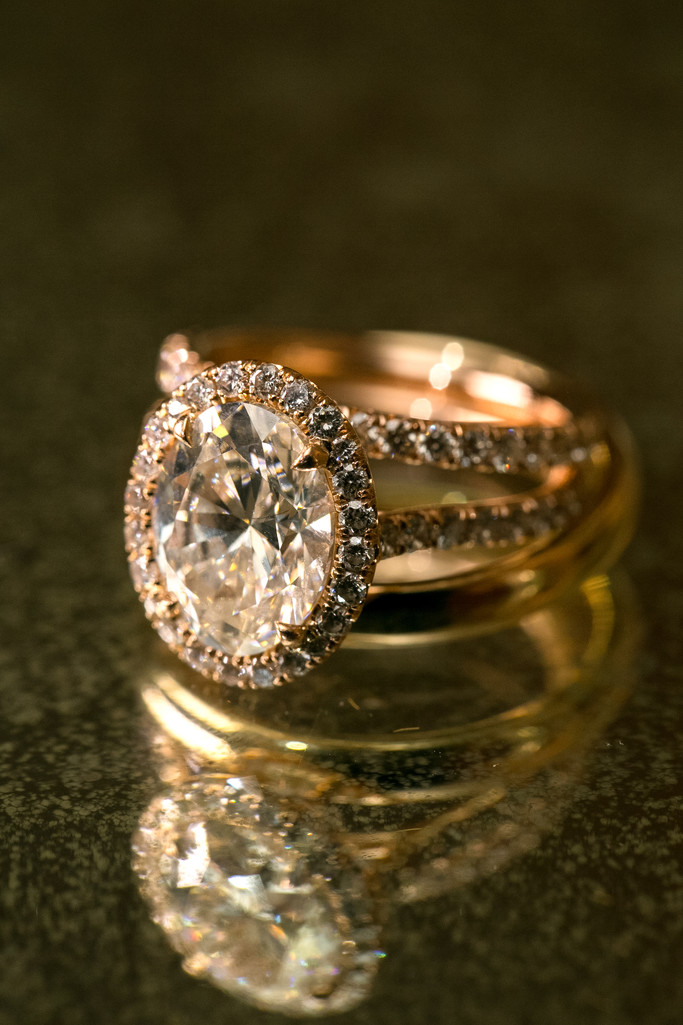 Exquisite Wedding and Engagement Diamond Ring at the California Club