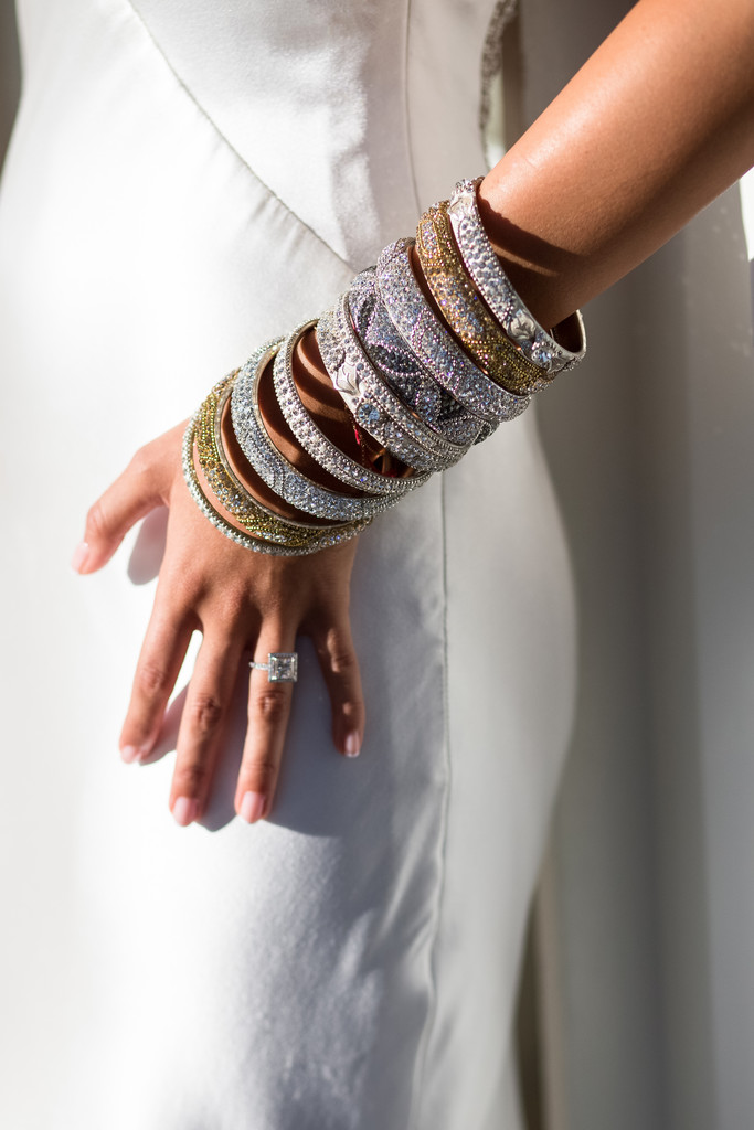 Henna Bracelets and Diamond Ring Adorning this Stunning Bride to be at her Henna Celebration