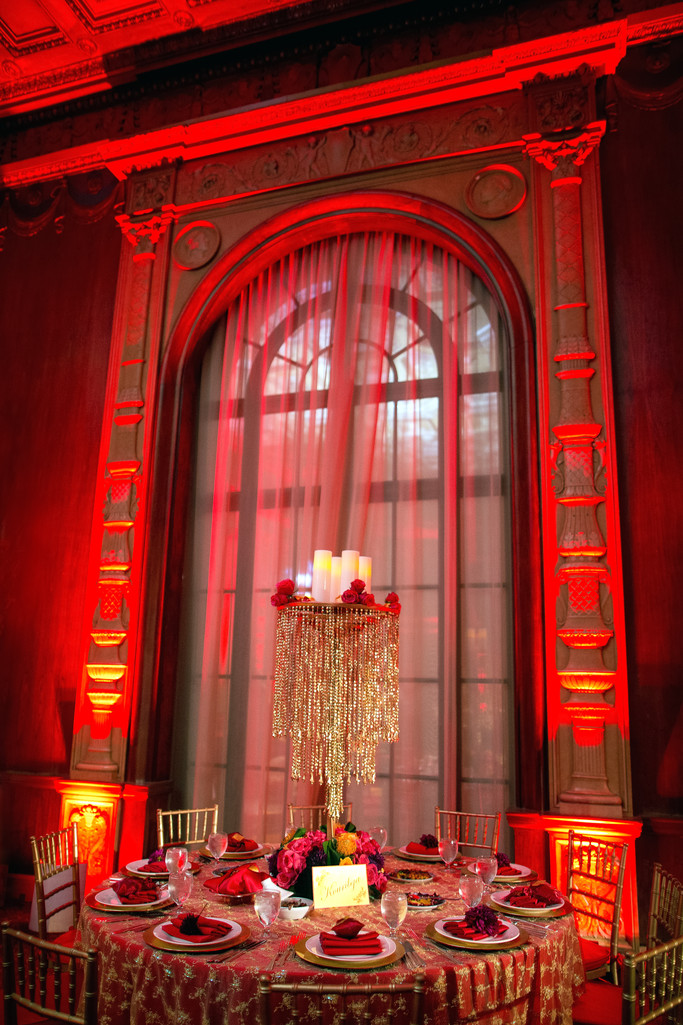 Stunning Bohemian Wedding Henna Decor in the Gold Room at the Millenium Biltmore Hotel