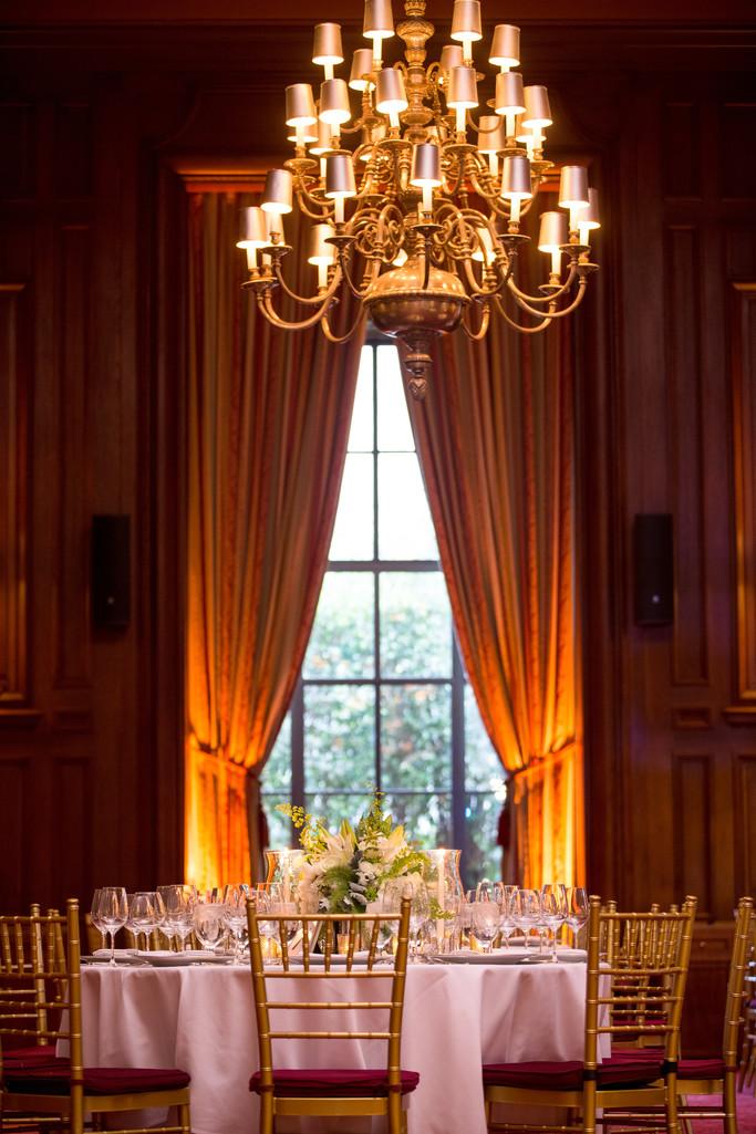 California Club in Los Angeles all Ready for a Wedding Reception