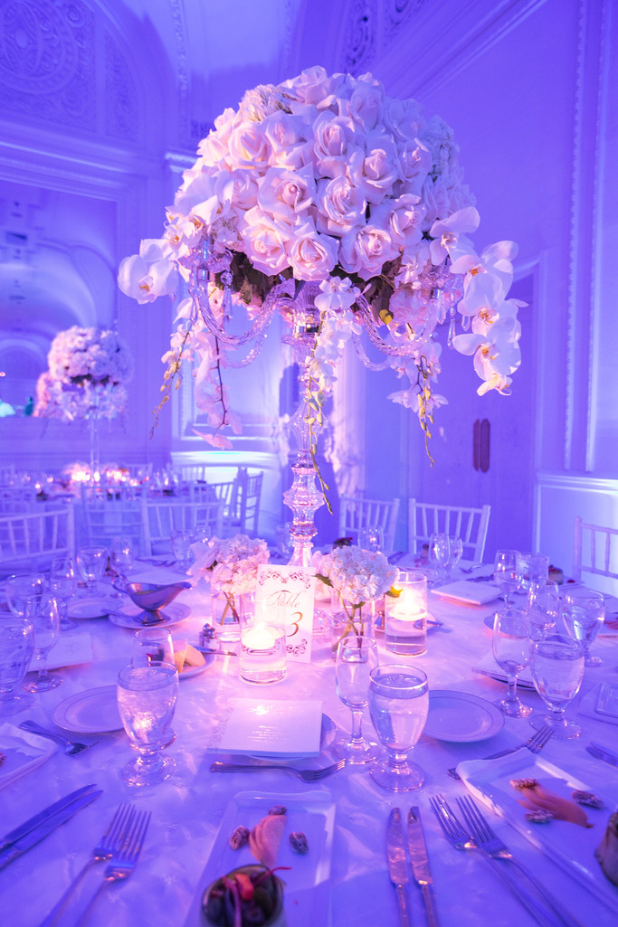 Palm Court Ballroom Decor Photography in Los Angles , CA