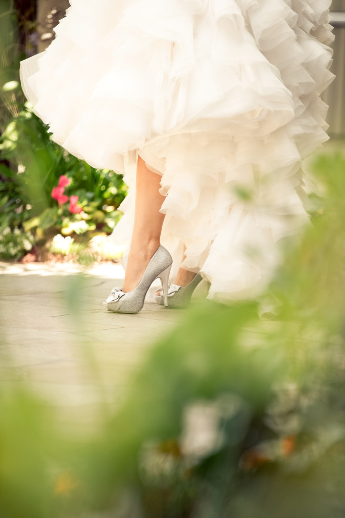 Wedding Gown & Bridal Shoes Detail Photography