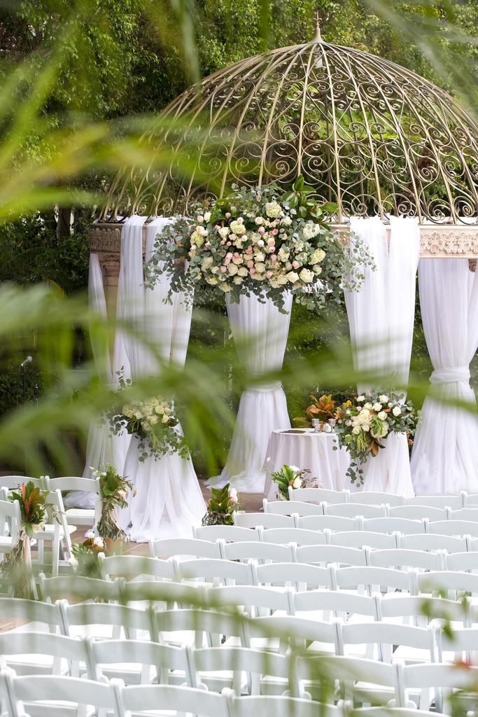 Ceremony Decor Florals at Ritz-Carlton Marina del Rey