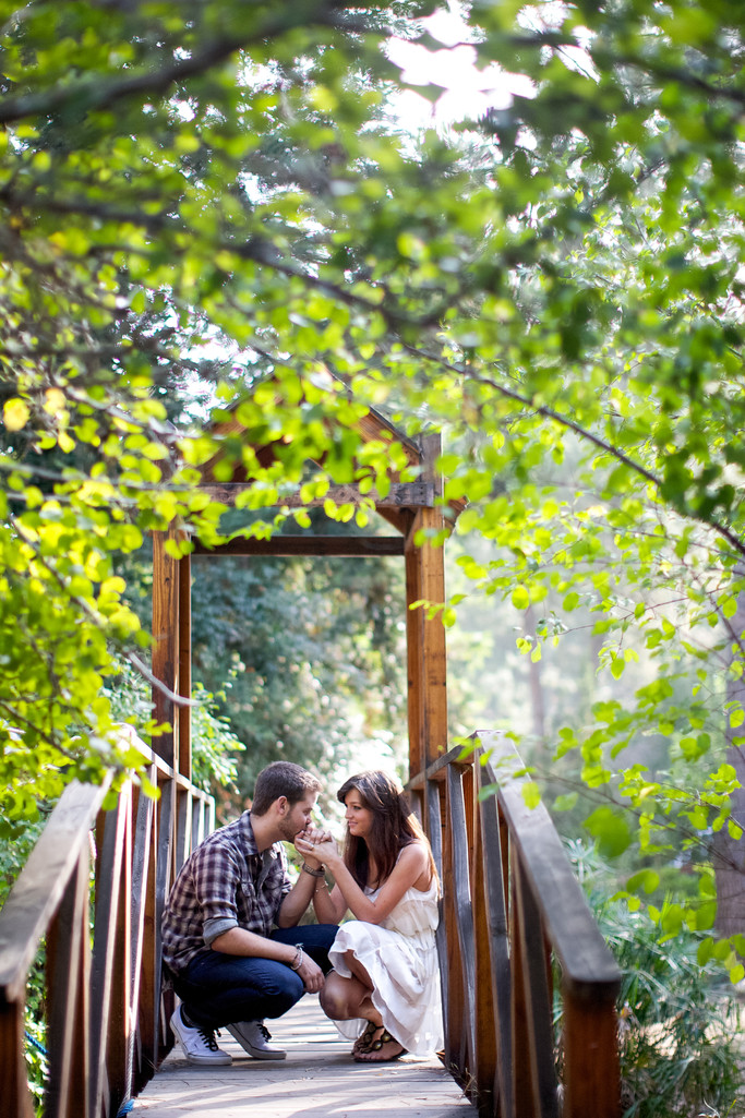 Topanga Canyon Engagement photography at Will Greer's Theatricum Botanicum