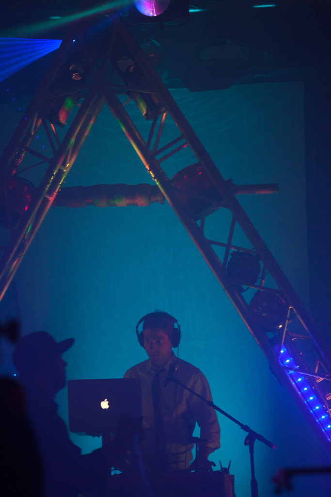 Mitzvah DJ Laying Down the Beat