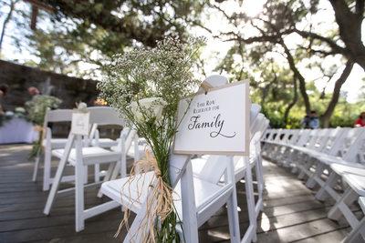 Wedding Ceremony Decor and Details at Calamigos Ranch, Malibu