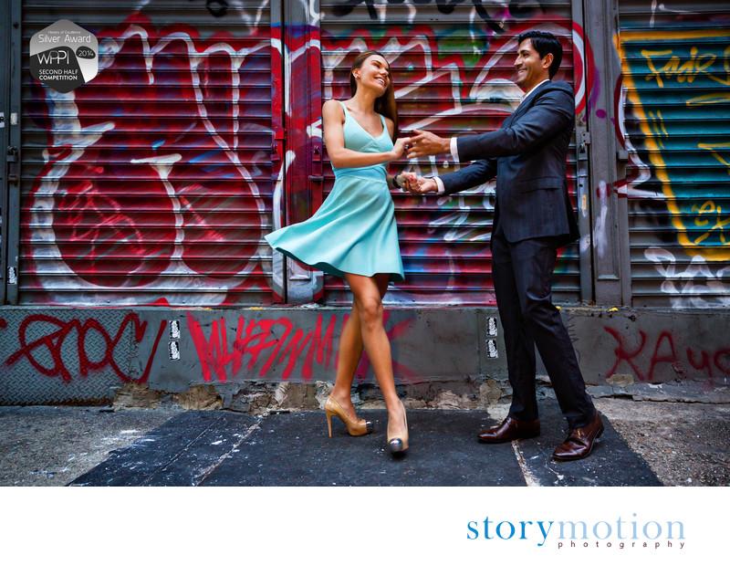SOHO Salsa - SOHO/NYC Engagement Portrait Session