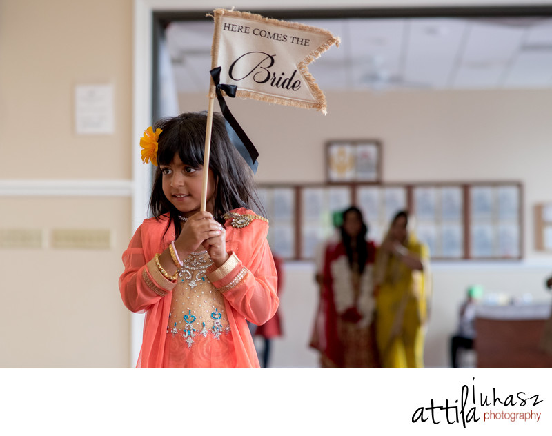 Bride entrance for ceremony