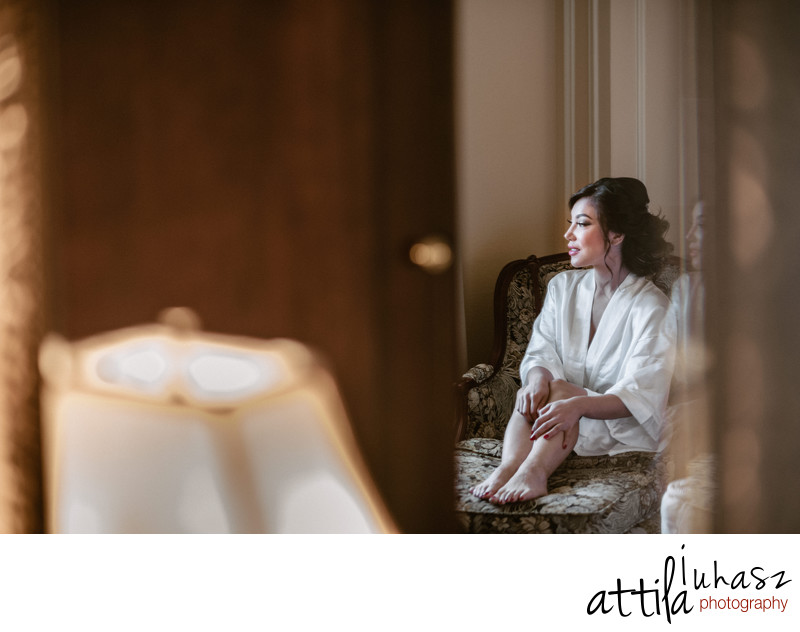 Bride getting ready at Millennium Biltmore