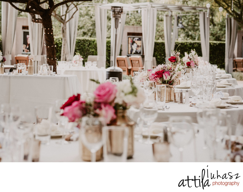 Outdoor reception details