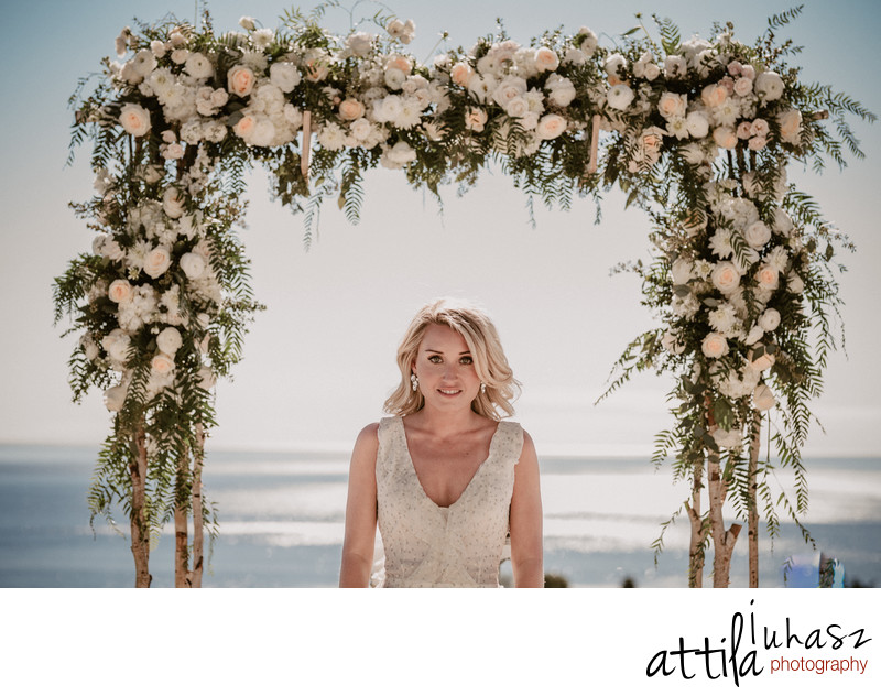 Bride portrait and the Pacific