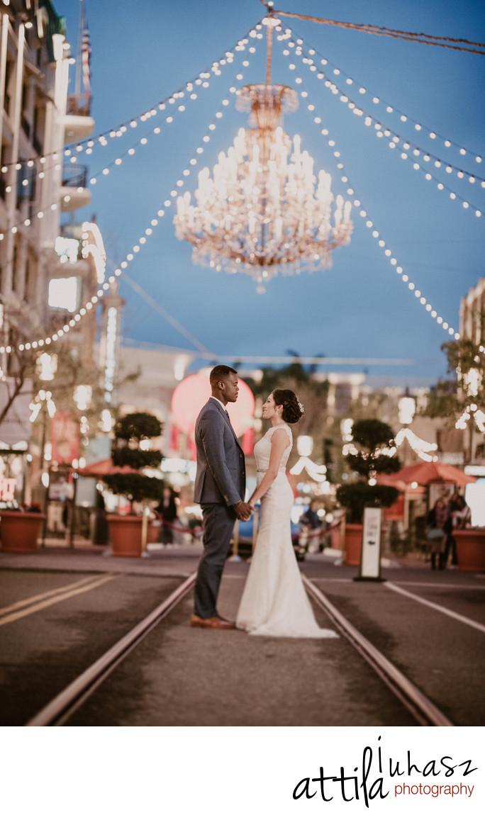 Bride and Groom in Glendale