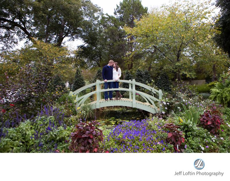dallas arboretum engagement picture