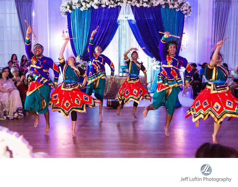 Indian dance troupe wedding