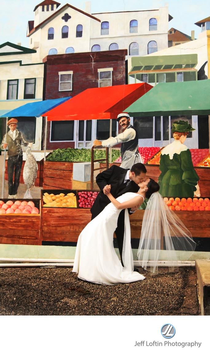 Redondo Beach Historic Library wedding photographer