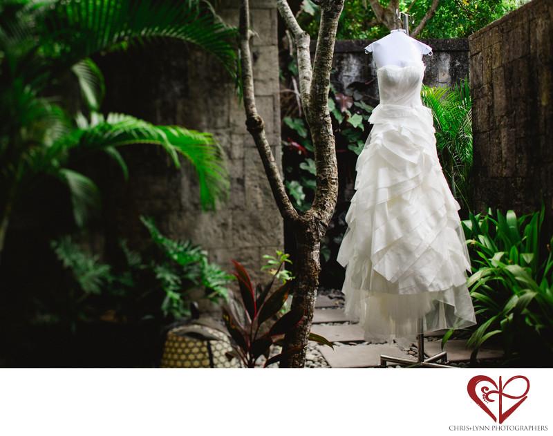 Bulgari Resort Bali Wedding Photographer Vera Wang Gown