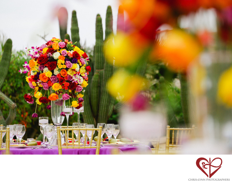Destination Wedding Floral Decor Photo, The Main Event