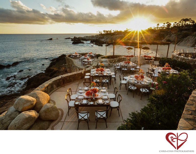 Sunset Reception Photo at Esperanza Resort Cabo, Mexico