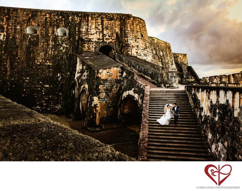 San Juan Morro Castle,  Wedding Photo