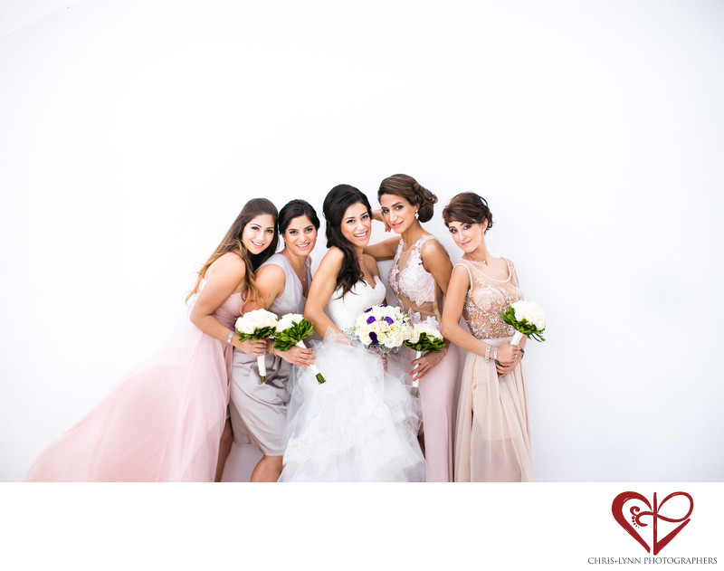 Beautiful Persian Bridesmaids at Mexico Wedding