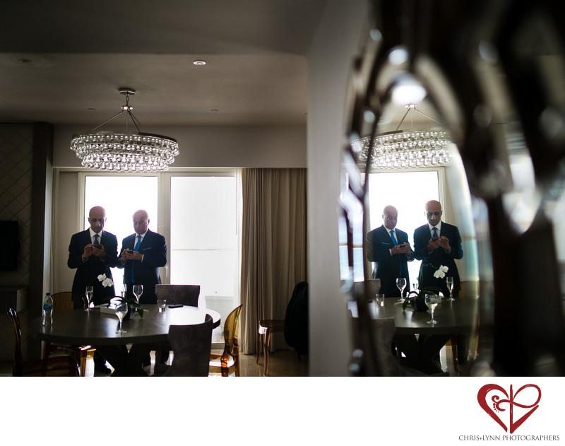 Fathers at Cancun Persian Wedding, Le Blanc Resort