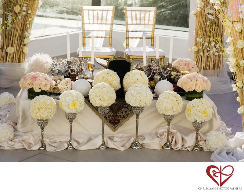 Persian Sofreh in Cancun, Le Blanc Wedding