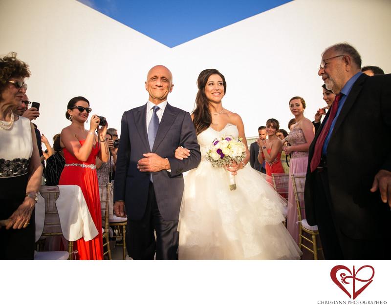 Bride & Father Walk Down Aisle, Le Blanc Wedding