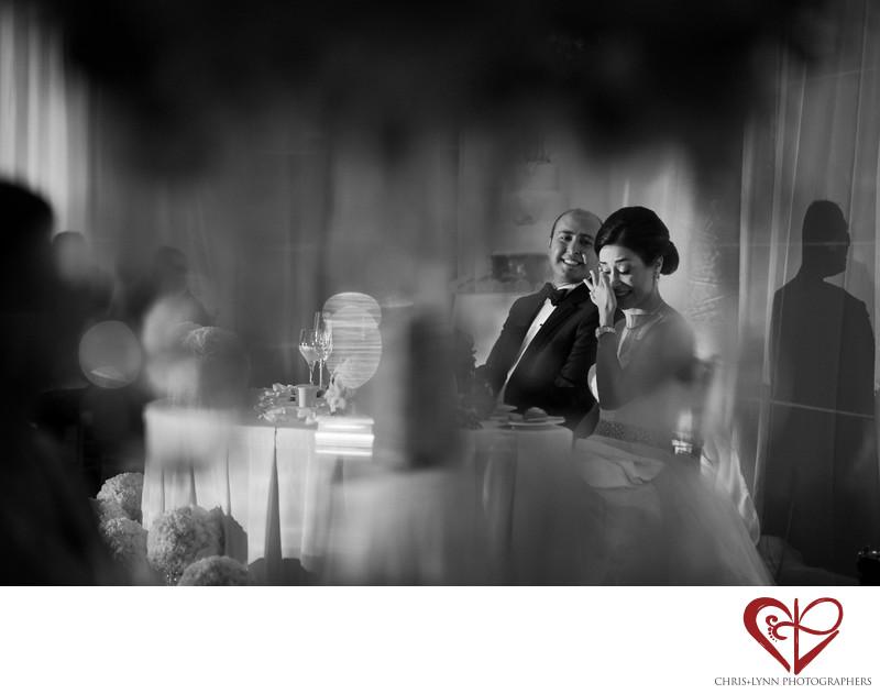 Bride Crying at Wedding Reception, Le Blanc Hotel
