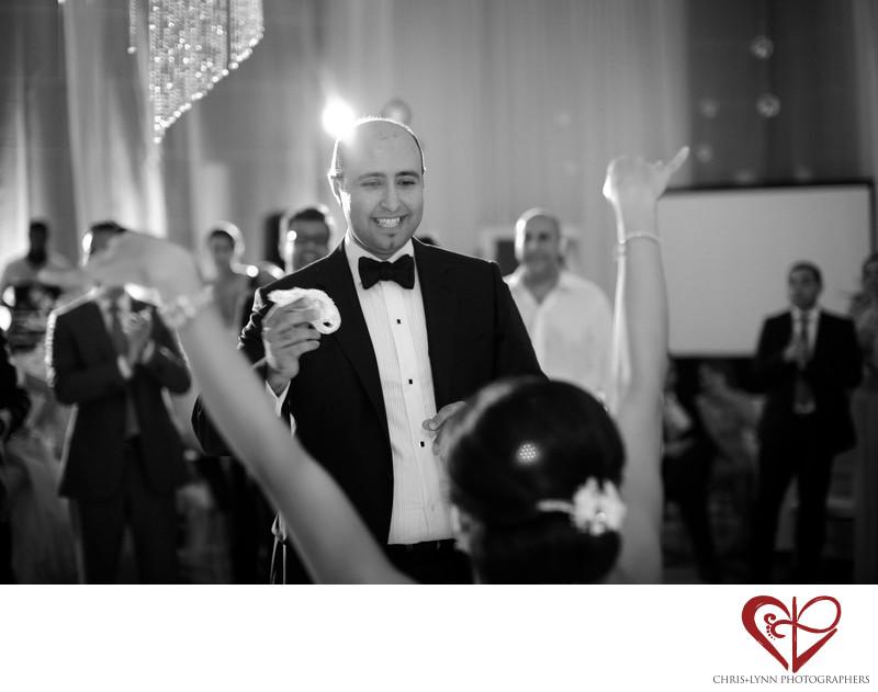 Groom at Cancun Wedding Reception, Le Blanc Resort