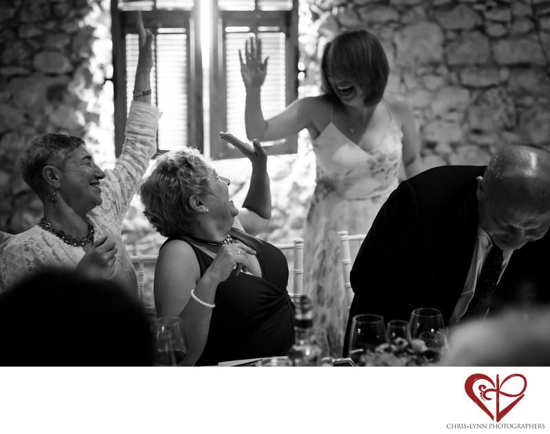 Chateau de Malliac Wedding Reception Photos, Speech