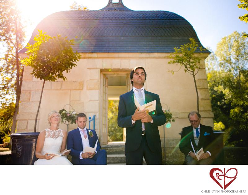 Chateau de Saint Loup Wedding Ceremony Photos