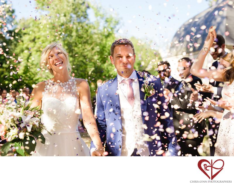 Chateau de Saint Loup Wedding Ceremony Photos 7